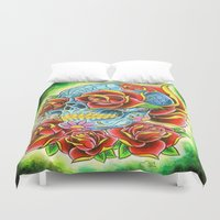 tatoo Duvet Covers featuring Tatoo ART 6 by The Greedy Fox