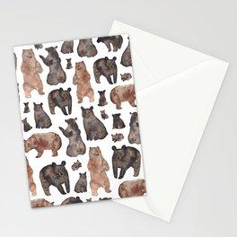 Woodland Bear Pattern Stationery Cards