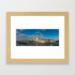 Thames River Panorama Framed Art Print
