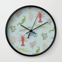 Seaweed Graphics Wall Clock