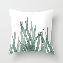 Watercolor snake plants Throw Pillow