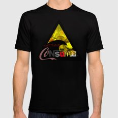 There is NO global warming! CONSUME MORE LARGE Black Mens Fitted Tee