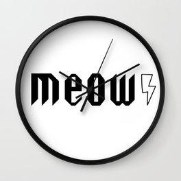 Meow Kiss Wall Clock