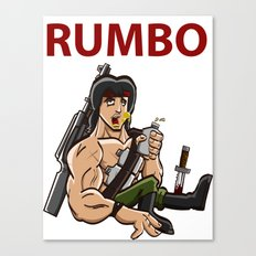 Rumbo - An incredibly violent and constantly drunk soldier of doom Canvas Print