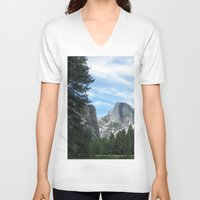 yosemite V-neck T-shirts featuring Yosemite by Angela McCall
