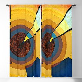 Wassily Kandinsky Green and Red Blackout Curtain