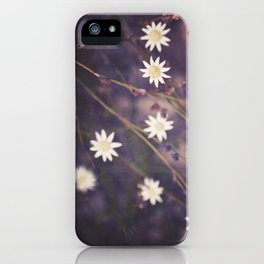 Miniature Flannel Flowers iPhone Case