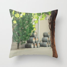 In the Winery Throw Pillow