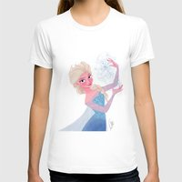 frozen elsa T-shirts featuring Elsa Frozen by pecamoDESIGN