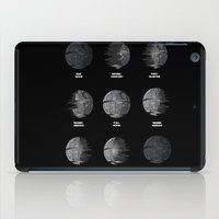 moon phase iPad Cases featuring The Death Star Moon phase. by Ismael Sandiego