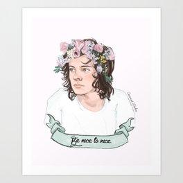 Be nice to nice Art Print