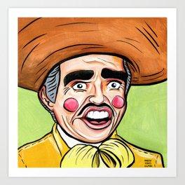 Vicente Fernandez: Caricatura Art Print