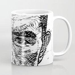 YUKIO MISHIMA ink portrait.2 Coffee Mug