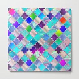 Colorful Decorative Moroccan Pattern Metal Print