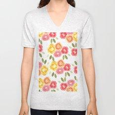 Vintage Florals Unisex V-Neck