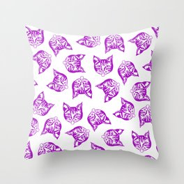 Mollycat Muddle Throw Pillow
