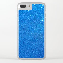 Blue Sparkle Clear iPhone Case