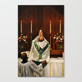Consecration of the Host during the Holy Sacrifice of the Mass Canvas Print