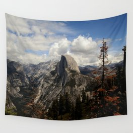 up in the mountains Wall Tapestry