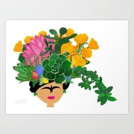 Keep Blooming Friducha Art Print