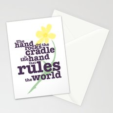 The Hand that Rocks the Cradle (Alternate Version) Stationery Cards