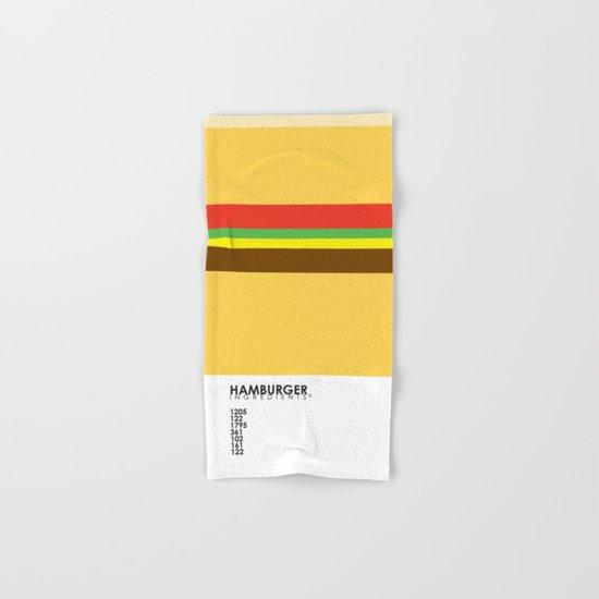 Pantone Food - Hamburger Hand & Bath Towel