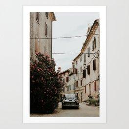 Ancient village Bale | Colourful Travel Photography | Istria, Croatia Art Print