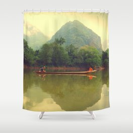 Laos River Shower Curtain