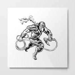 hand drawn Sketchy illustration of a ninja Metal Print