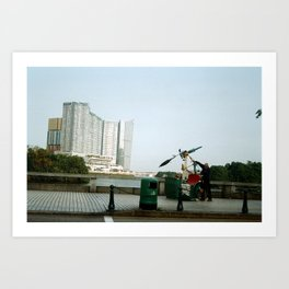 Rickshaw break Art Print