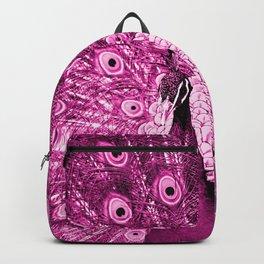 Pink Peacock Backpack