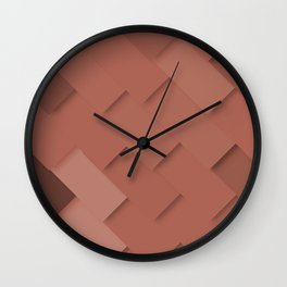 Terracotta pattern, layered like shingles, tiles or paint swatches you just cannot choose from! Wall Clock