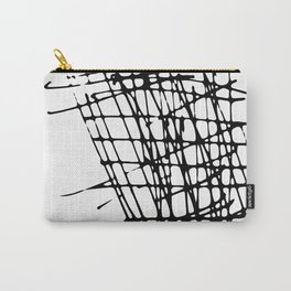 Sketch Black and White Carry-All Pouch