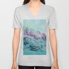 Pastel Magic Mountains Unisex V-Neck