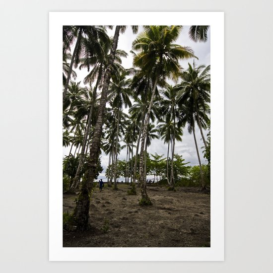 Palm Plantation Art Print