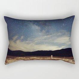 Night sky over Prairie Rectangular Pillow