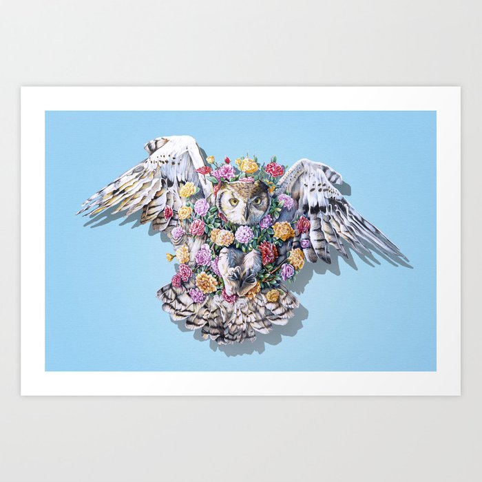 Birds in Bloom Art Print
