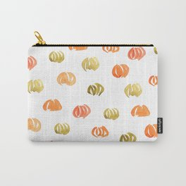 Pumpkin Pattern on White Carry-All Pouch