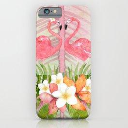 Jungle Pals Series - Flamingo Pair iPhone Case