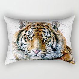 Tiger watercolor Rectangular Pillow