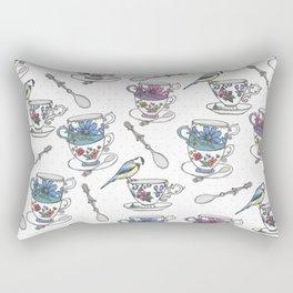 Birdsong Teaparty Rectangular Pillow