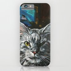 Two Faces of the Main Coon Cat iPhone 6s Slim Case