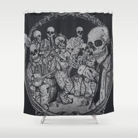 occult Shower Curtains featuring An Occult Classic by Dega Studios