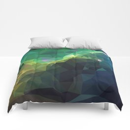 Galaxy low poly 3 Comforters