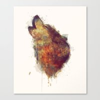 wolf Canvas Prints featuring Wolf by Amy Hamilton