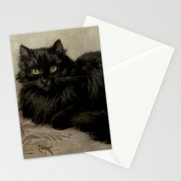Vintage Painting of a Black Cat (1903) Stationery Cards