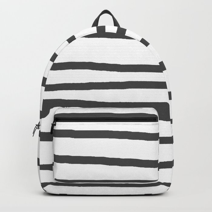 Simply Drawn Stripes in Simply Gray Backpack