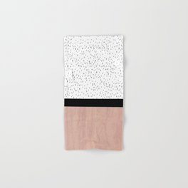 Pink marble and dots Hand & Bath Towel