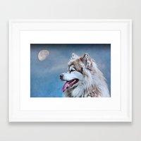 husky Framed Art Prints featuring Husky by Doug McRae