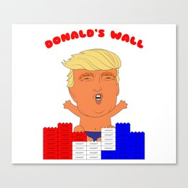 Donald's Wall Canvas Print